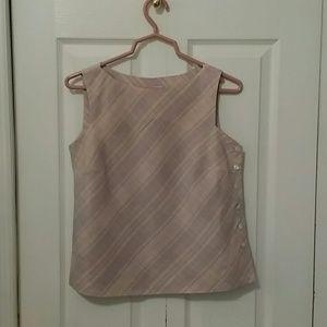Talbots Silk/Linen Sleeveless Blouse
